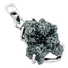 925 sterling silver 10.65cts natural green seraphinite in quartz pendant p16647