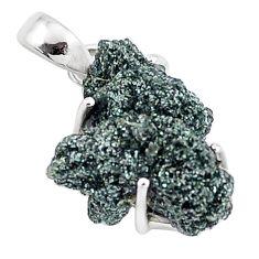 10.62cts natural green seraphinite in quartz 925 sterling silver pendant p16648