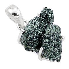 11.20cts natural green seraphinite in quartz 925 sterling silver pendant p16649