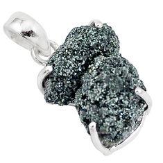 13.70cts natural green seraphinite in quartz 925 sterling silver pendant p16658