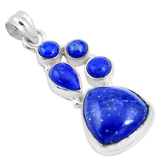 925 sterling silver 16.17cts natural blue lapis lazuli pendant jewelry p17190