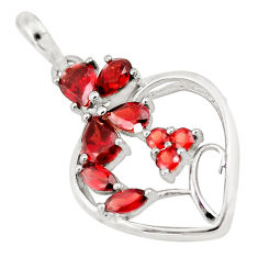 7.11cts natural red garnet pear 925 sterling silver heart pendant jewelry p17805