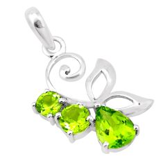 4.34cts natural green peridot 925 sterling silver pendant jewelry p17882