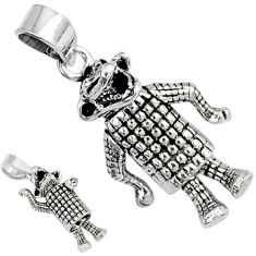 3d moving charm solid 925 sterling silver crocodile pendant jewelry p1789