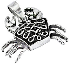 925 sterling silver 3d moving charm solid crab pendant jewelry p1794