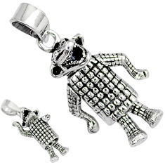 3d moving charm happy crocodile solid 925 sterling silver pendant jewelry p1840