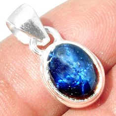 925 STERLING SILVER 4.23cts NATURAL BLUE STAR SAPPHIRE PENDANT JEWELRY P18869
