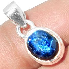 4.34cts NATURAL BLUE STAR SAPPHIRE 925 STERLING SILVER PENDANT JEWELRY P18880
