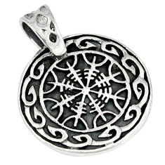 Indonesian bali style solid 925 sterling silver pendant jewelry p1892