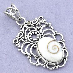 925 sterling silver 6.39cts natural white shiva eye oval pendant jewelry p19397