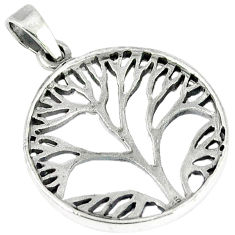 Indonesian bali style solid 925 silver tree of life pendant jewelry p1964