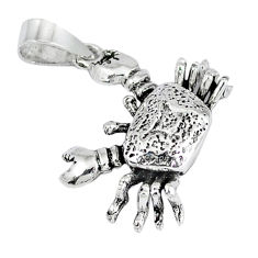 3d moving charm solid 925 sterling silver crab pendant jewelry p1966