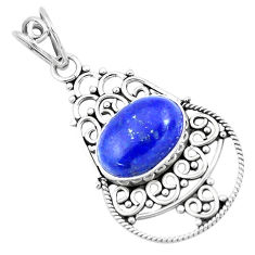 6.10cts natural blue lapis lazuli 925 sterling silver pendant jewelry p19706