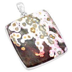 925 silver 53.28cts natural multi color ocean sea jasper pendant jewelry p19877