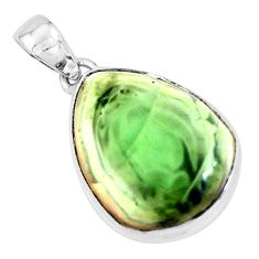 19.23cts natural green imperial jasper 925 sterling silver pendant p19908