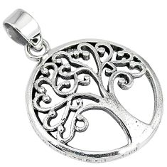 Indonesian bali style solid 925 silver tree of life pendant jewelry p2025