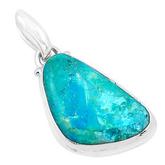 925 sterling silver 13.15cts natural green opaline fancy pendant jewelry p20326
