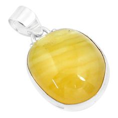 15.65cts natural yellow calcite 925 sterling silver pendant jewelry p20328
