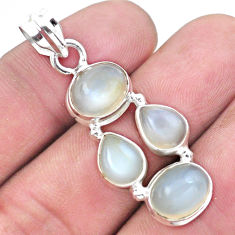 11.44cts natural white moonstone 925 sterling silver pendant jewelry p20797
