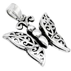 3d moving charm solid 925 sterling silver butterfly pendant jewelry p2089