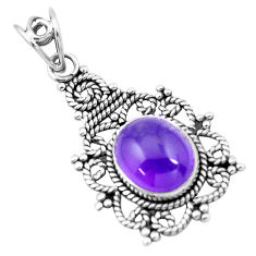 5.16cts natural purple amethyst 925 sterling silver pendant jewelry p20904