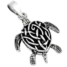 3d moving charm solid 925 sterling silver turtle pendant jewelry p2091