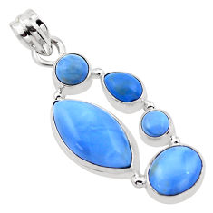 15.39cts natural blue owyhee opal 925 sterling silver pendant jewelry p20989