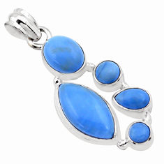 15.39cts natural blue owyhee opal 925 sterling silver pendant jewelry p20990