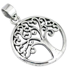Indonesian bali style solid 925 sterling silver tree of life pendant p2106