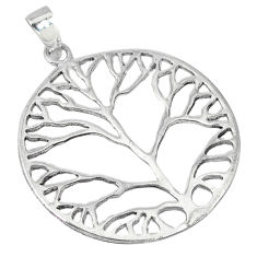 Indonesian bali style solid 925 silver tree of life pendant jewelry p2107