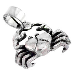 3d moving charm solid 925 sterling silver crab pendant charm p2139