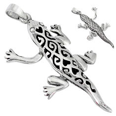 3d moving charm solid 925 sterling silver lizard pendant jewelry p2165