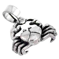 3d moving charm solid 925 sterling silver crab pendant jewelry p2170
