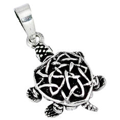 3d moving charm solid 925 sterling silver turtle pendant jewelry p2171