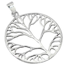Indonesian bali style solid 925 sterling silver tree of life pendant p2184