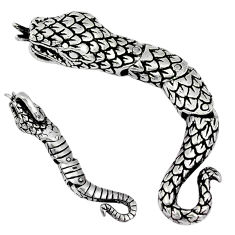 3d moving charm solid 925 silver anaconda snake pendant jewelry p2189