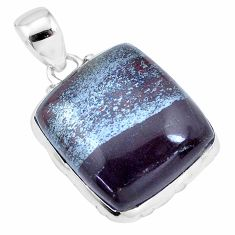 925 sterling silver 23.81cts natural ancestralite pendant jewelry p23418