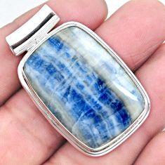 28.86cts natural blue scheelite (lapis lace onyx) 925 silver pendant p23429