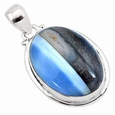 17.55cts natural blue owyhee opal 925 sterling silver pendant jewelry p23441