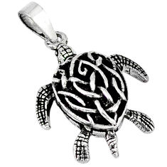 3d moving charm solid 925 sterling silver turtle pendant jewelry p2371