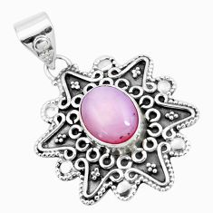 4.29cts natural pink opal 925 sterling silver pendant jewelry p24730