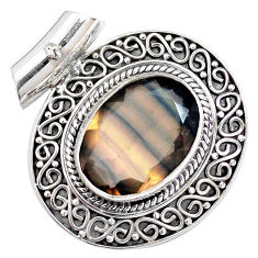 15.03cts natural multi color fluorite 925 sterling silver pendant jewelry p25542
