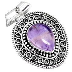 11.30cts natural purple ametrine 925 sterling silver pendant jewelry p25552