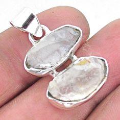925 silver 10.76cts natural blue dumortierite rough fancy shape pendant p25564