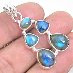 12.04cts natural blue labradorite 925 sterling silver pendant jewelry p25771