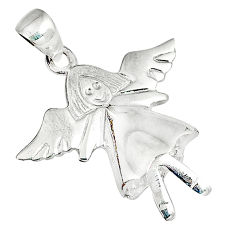 Indonesian bali style solid 925 silver ballet dance charm pendant p2719