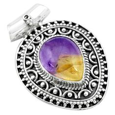 925 sterling silver 11.30cts natural purple ametrine pendant jewelry p27635