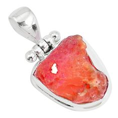 925 sterling silver 12.07cts natural orange mexican fire opal pendant p27984