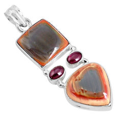 23.98cts natural green imperial jasper garnet 925 sterling silver pendant p28519