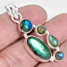 11.89cts natural blue labradorite 925 sterling silver pendant jewelry p29028